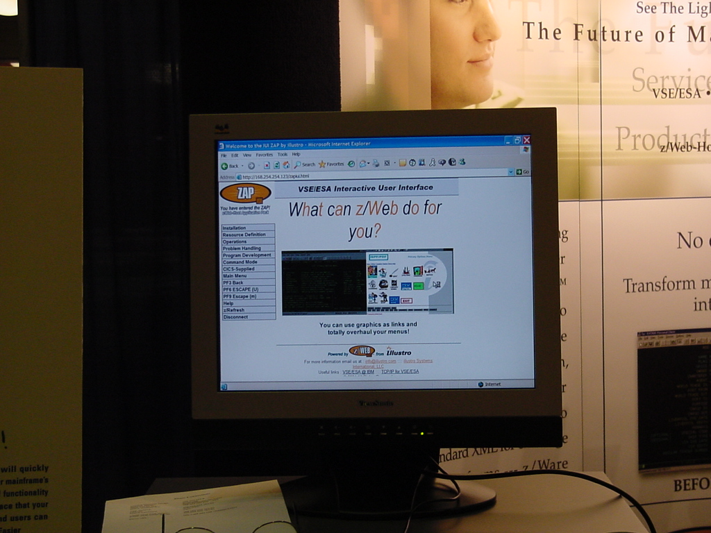 illustro in the WAVV Expo Area. What can z/Web do for you?