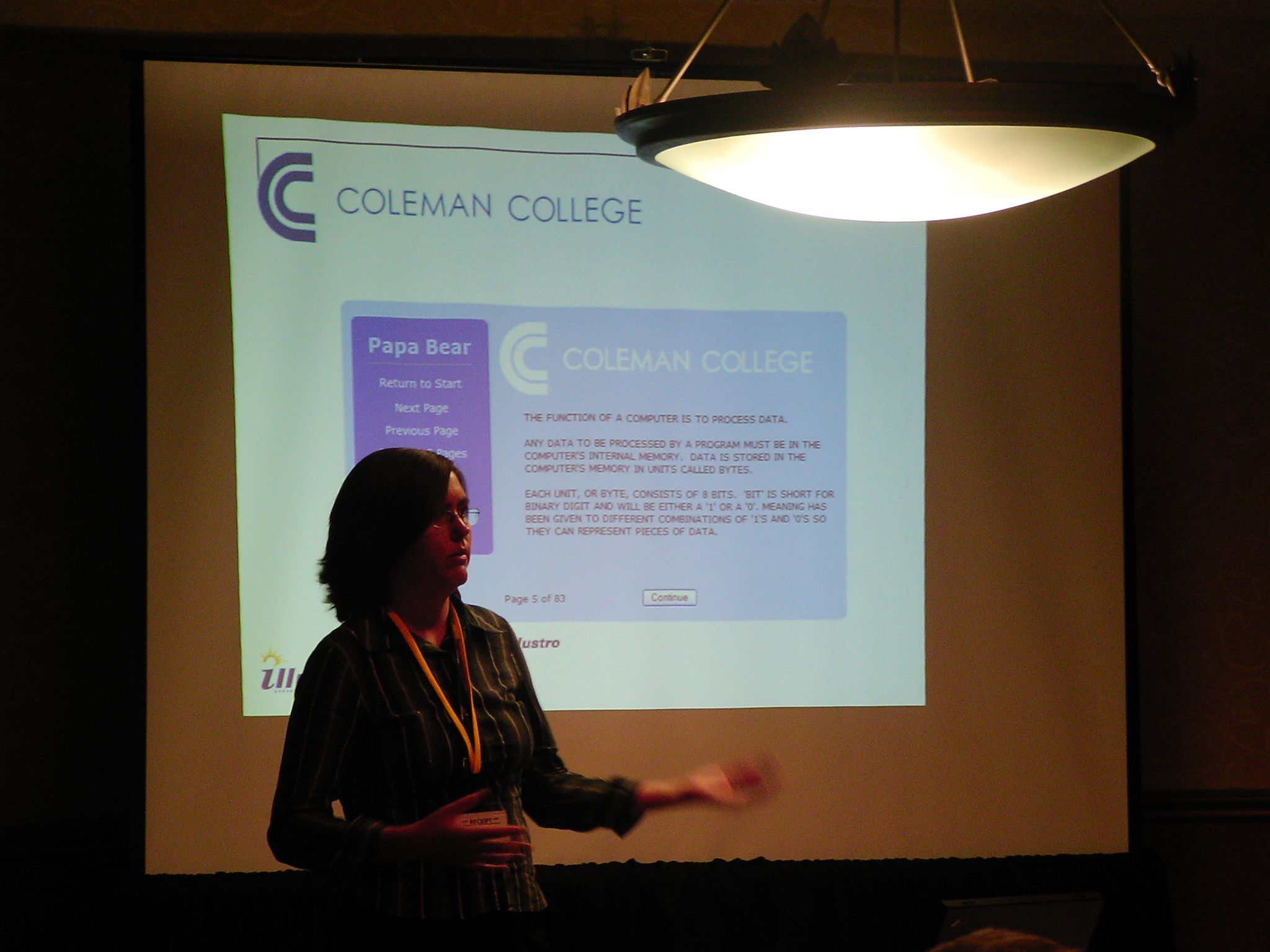 Sarah Kranz from Coleman College explains how z/Web-Host enhanced students' access to information.