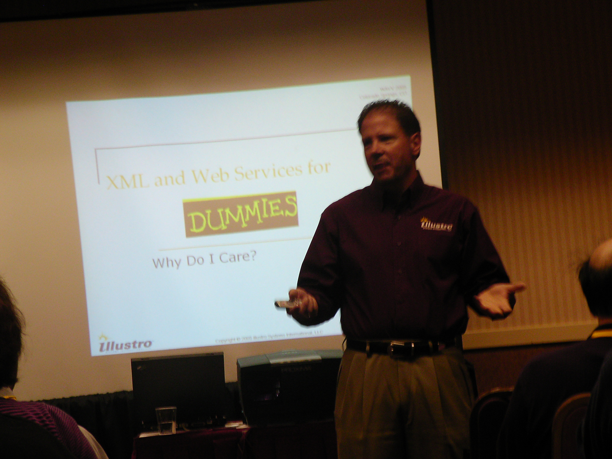 Eric Vaughan, illustro's CEO, delivers one of his sessions on XML and Web Services.
