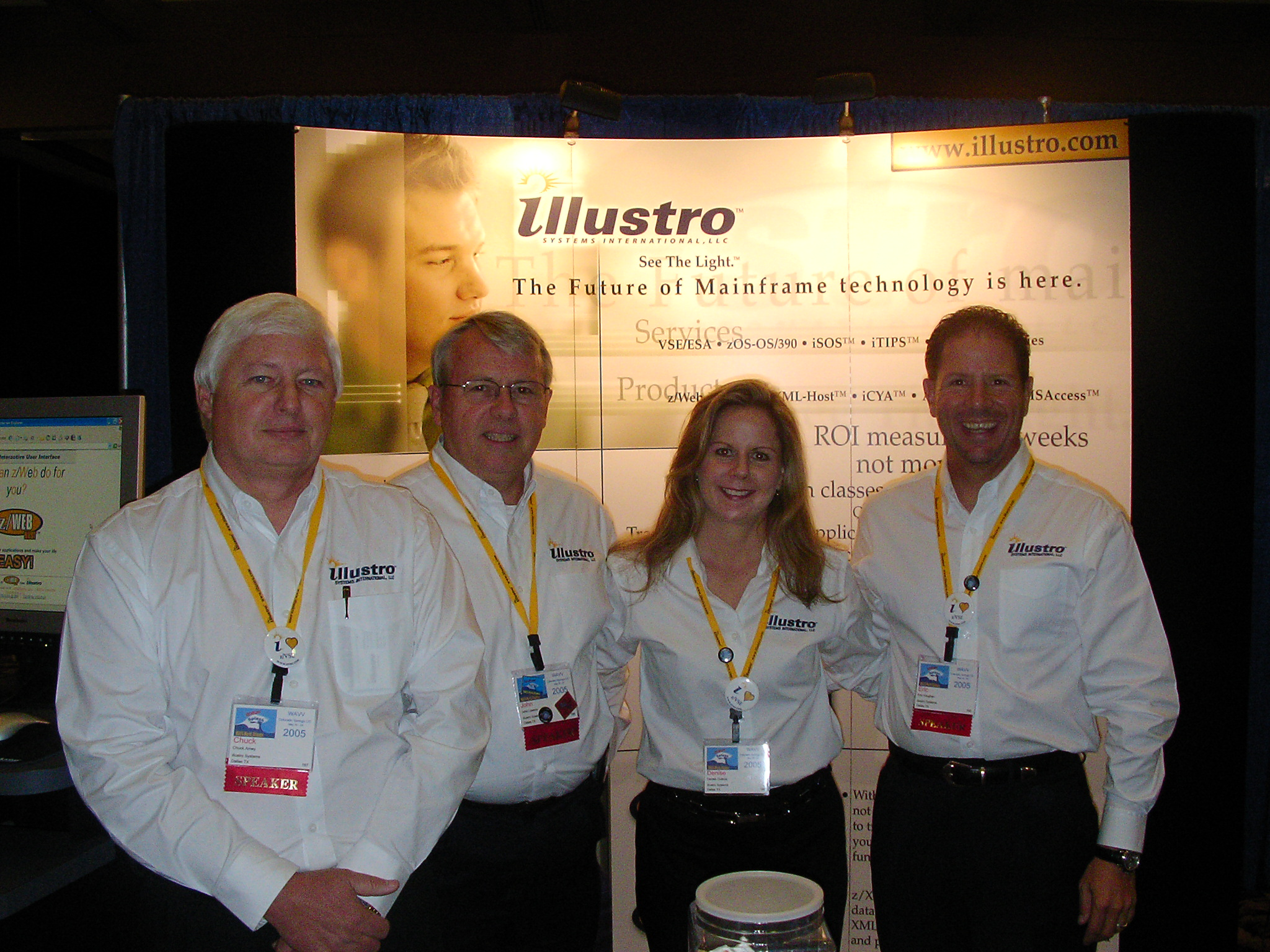 The illustro Expo team: Chuck Arney, John Lawson, Denise DuBois, and Eric Vaughan. Description	 None